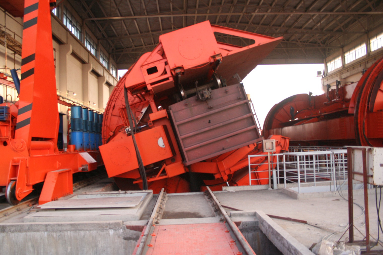 Run-through type Car Dumper for bulk material handling