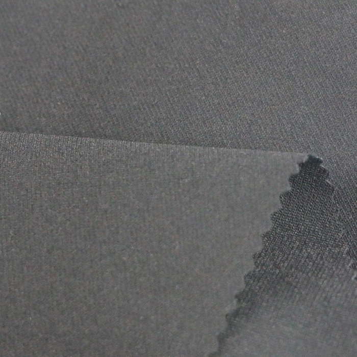 Hot sale 78%rayon 18%nylon 4%spandex black woven fabric manufacturer