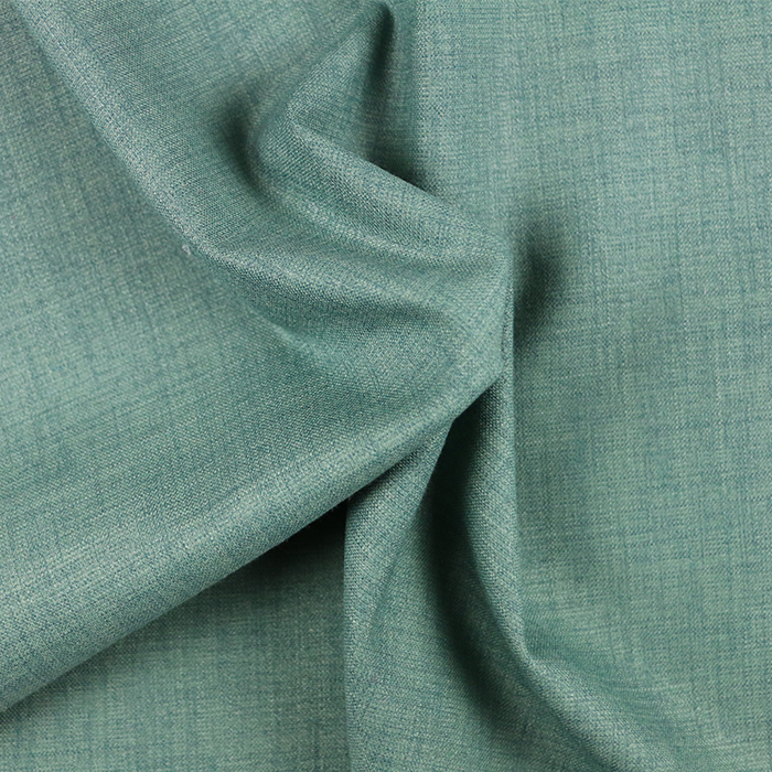44%polyester 43%rayon 8%nylon 5%spandex green flat stretch woven fabric