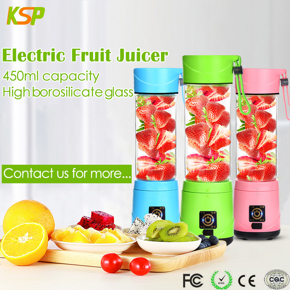 Commercial Mini Shake N Take Personal Orange Portable Juicer Blender