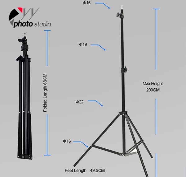 Photo Studio Umbrella Continuous Lighting Kit, KIT 002