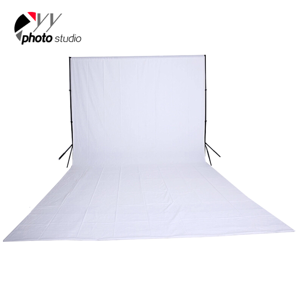 White Muslin Photography Backdrop