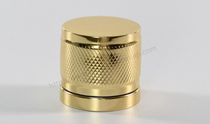 Golden aluminum perfume cover