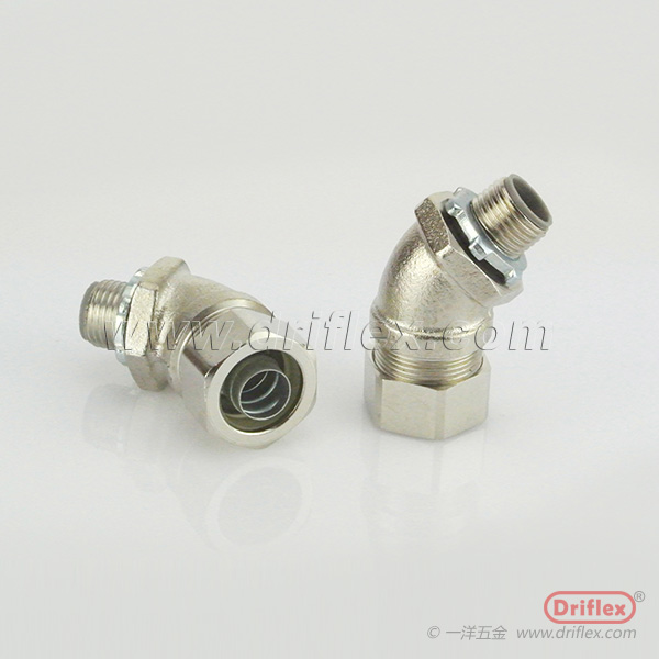 HOT SELLING Nickel Plated Brass 45d Angle Liquid-tight Conduit Fittings