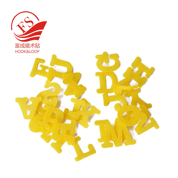self-adhesive cabinet Hook and loop alphabet letters