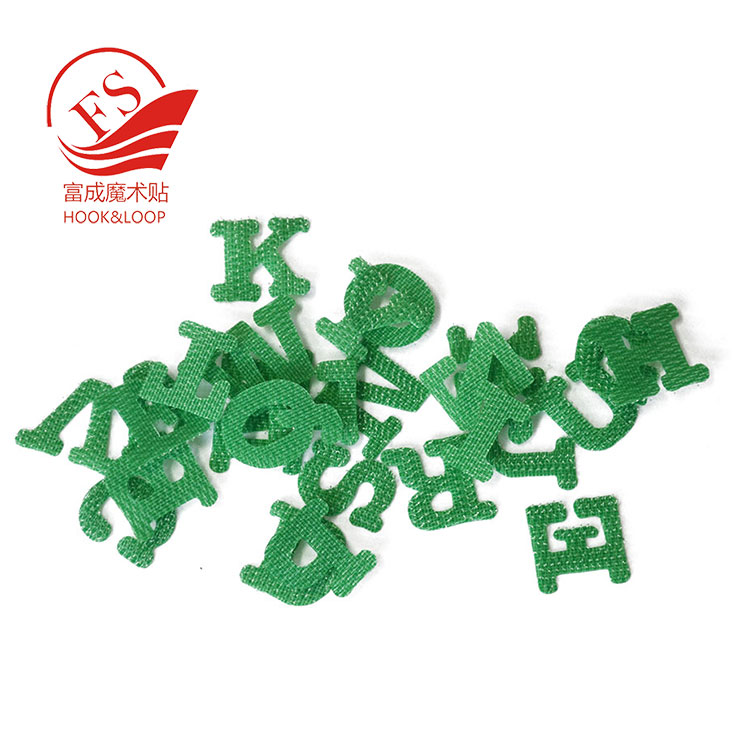 Customized colorful nylon hook&loop letters to learn English quickly
