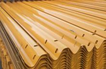 Plastic Sprayed Corrugated Highway Guardrail