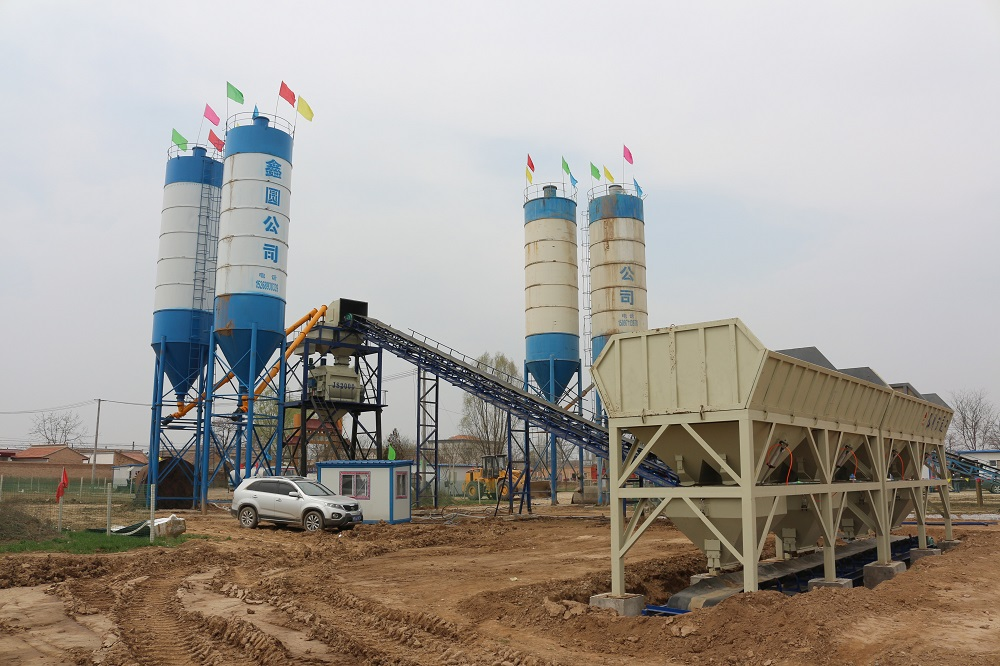 HZS120 large capacity concrete batching plant