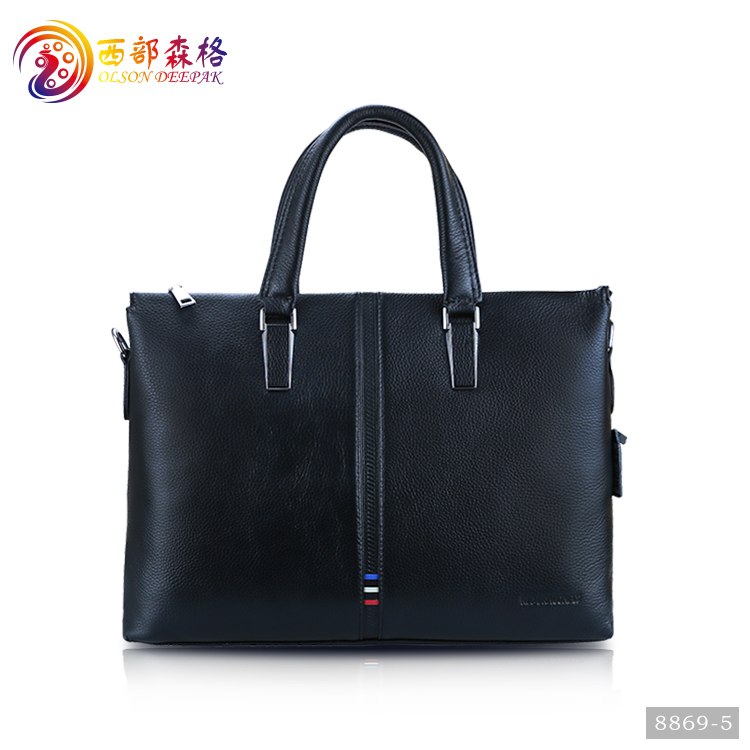 genuine leather daily tote handbags bag with crossbody straps for women/men