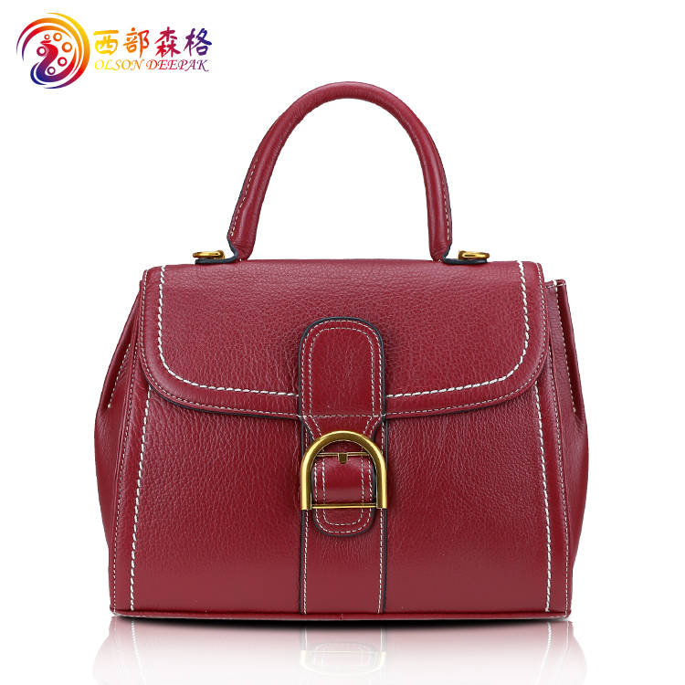 genuine cowhide leather handbags for women top handle bags lady's purse