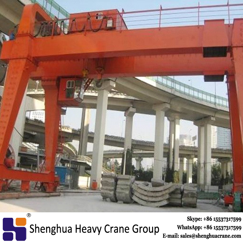 Road and bridge building electric trolley gantry crane 500t machinery