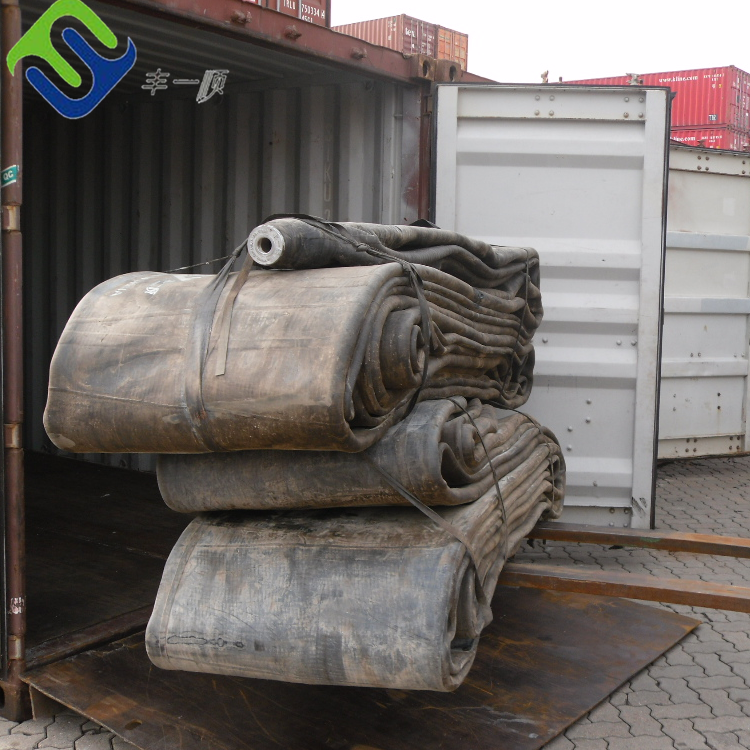 Ship Launching Inflatable Marine Rubber Airbag To America