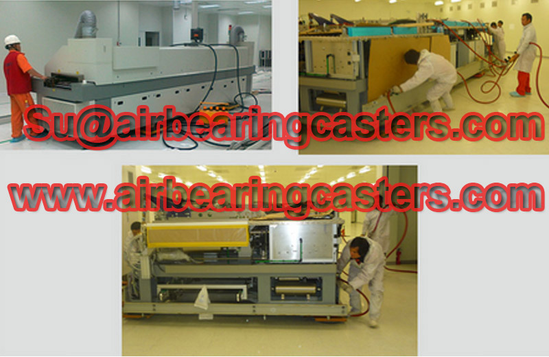 Air pads for moving equipment air casters