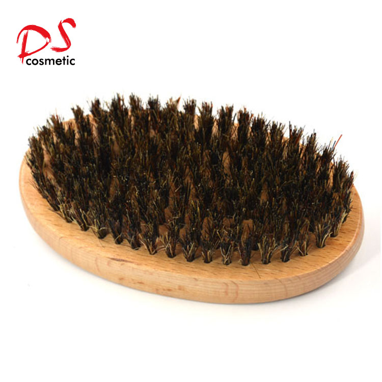 mans wood beard brush set with boar bristle for man shaving