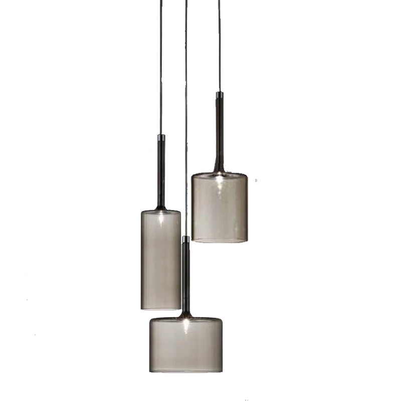 Hot selling factory supply gray glass modern pendant lamp/light for bar