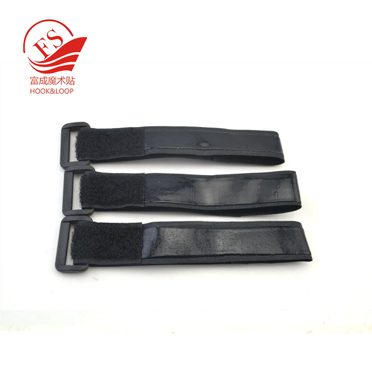 Adjustable black buckle strap Anti-slip Battery Straps ties with logo print