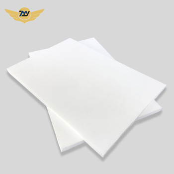 White 100% Virgin PTFE Molded Sheet Teflon Plastic Plate