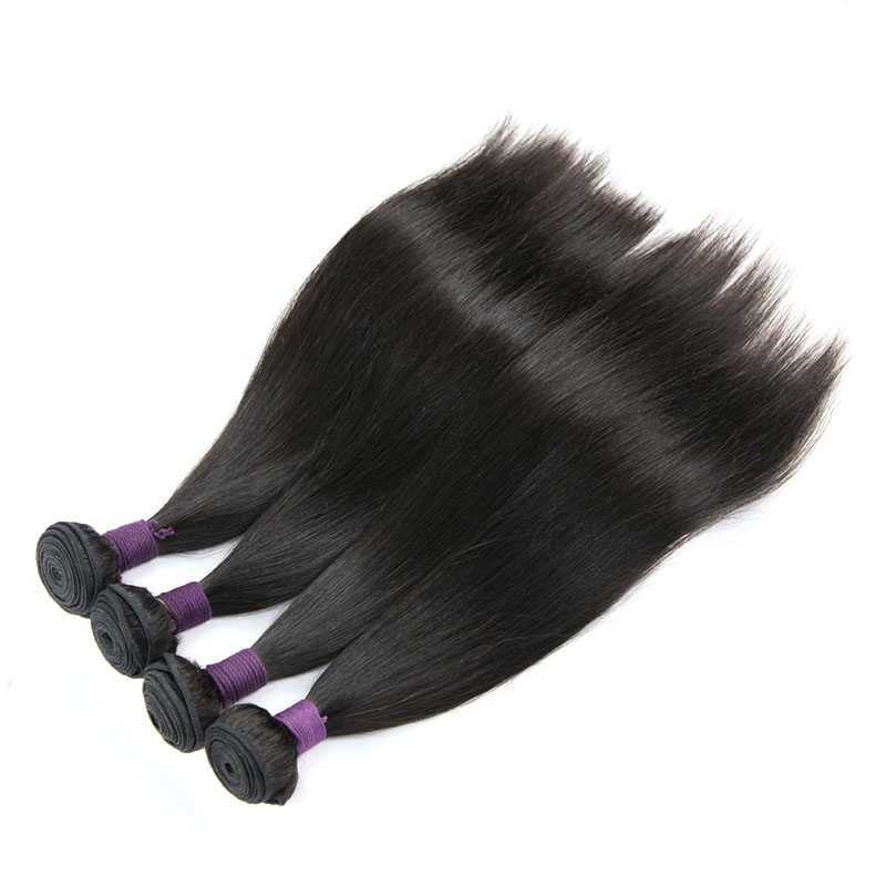 9A Brazilian Straight 4 Bundles Human Virgin Hair Weave