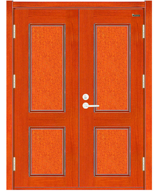 Double Leaves Wooden Fire rated Door