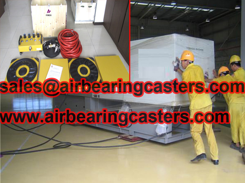 Air bearing rigging system protected your floor when moving