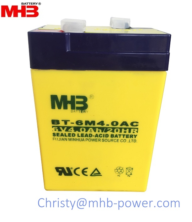 MHB Power 6V4Ah lead acid battery for ups/back up power (BT-6M4.0AC)