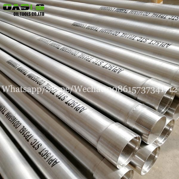 SS304 316 stainless steel seamless/welded casing pipe and oil well tube