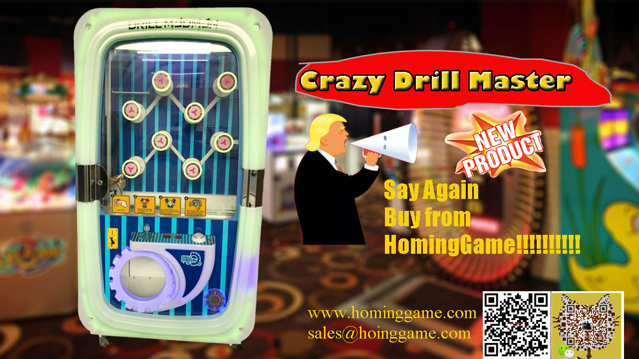 2018 Hot Sale Crazy Drill Screw Driver Prize Redemption Game Vending
