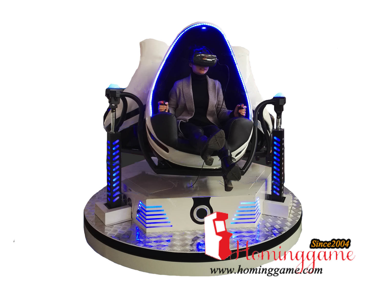 HomingGame Hot Sale 2 Seats 9D VR Egg Reality Cinema Video Arcade Game