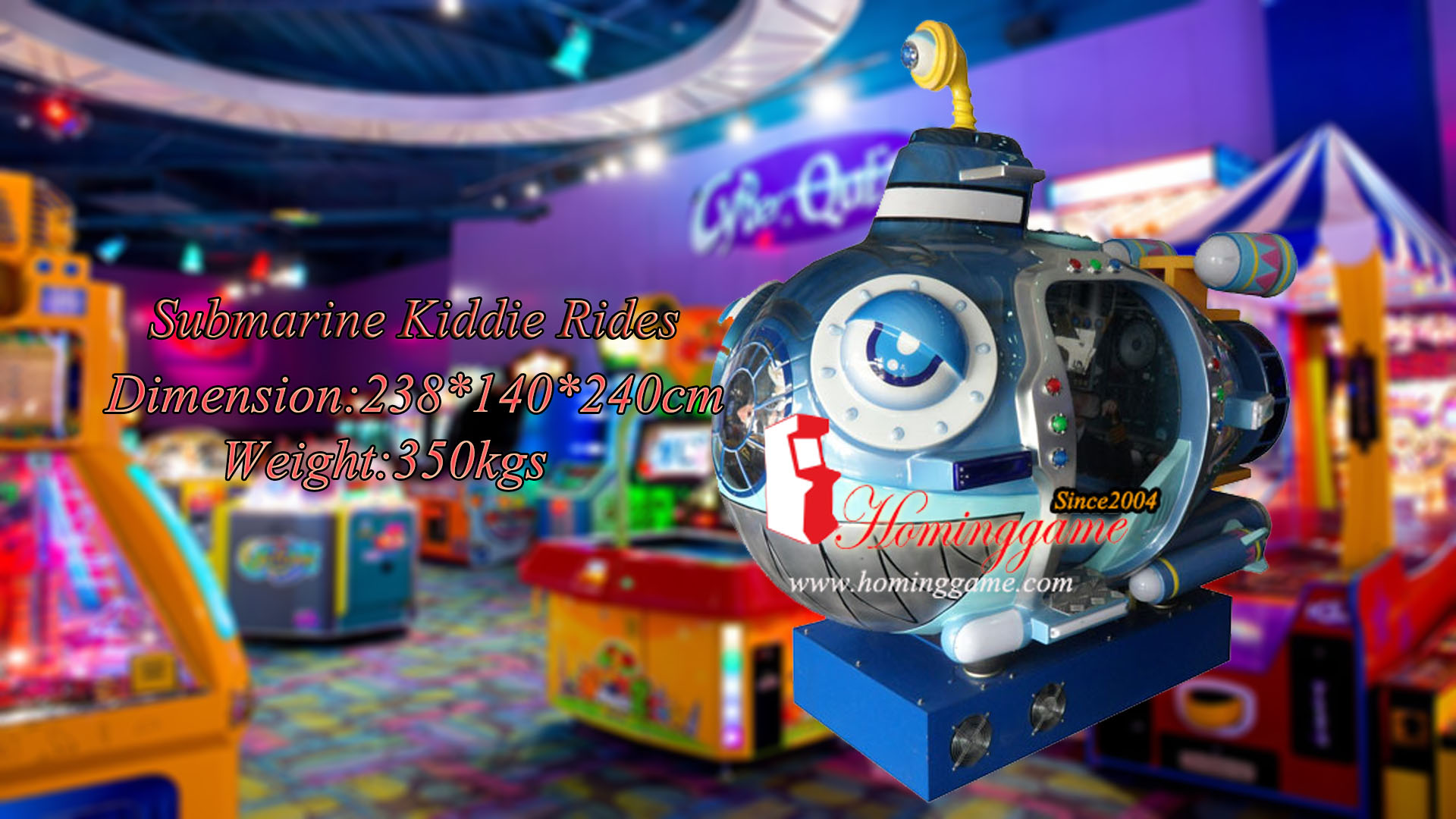 HomingGame Submarine Coin Operated Kiddie Ride Game Equipment|kiddie Sub Arcade