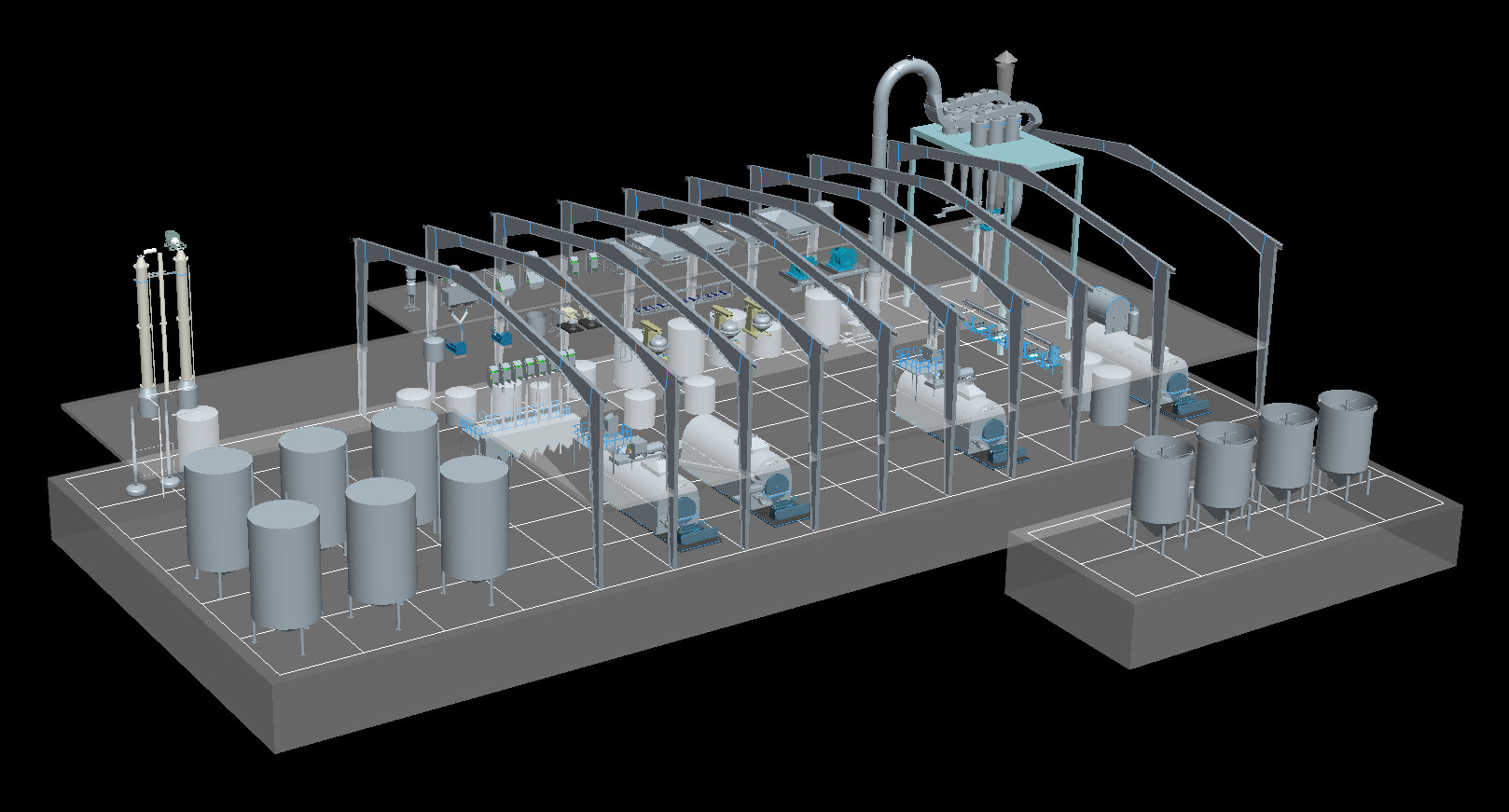 Full-automatic Corn starch design/processsing/process production line/making line/machines