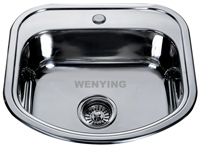 Attractive design single bowl one piece finished kitchen sink