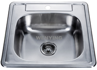 North American standard and style single bowl stainless steel sink