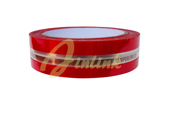 Tamper evident security tape for bags
