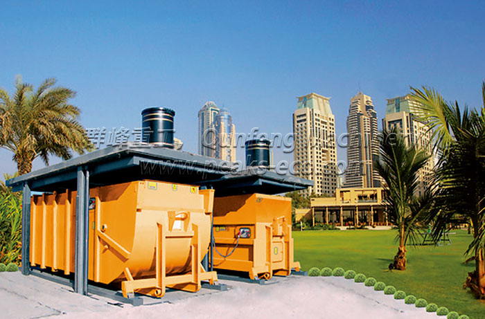 New Type Underground Waste Container System