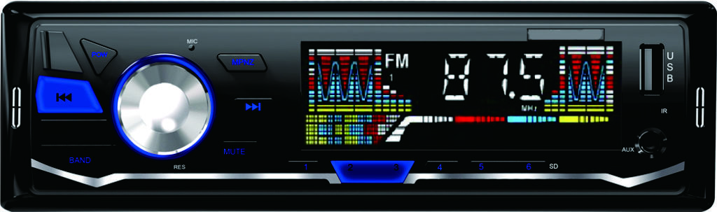 Color LCD digital display car audio mp3 player for car