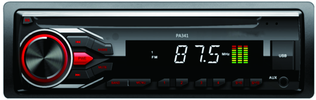 1 din detachable panel car MP3 player car audio with FM/AM function