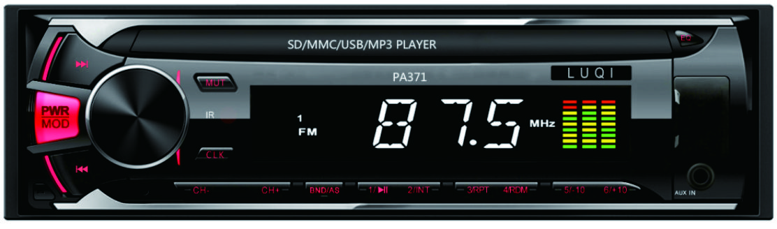 Detachable LCD screen 1 din car radio mp3 player  usb sd card music player