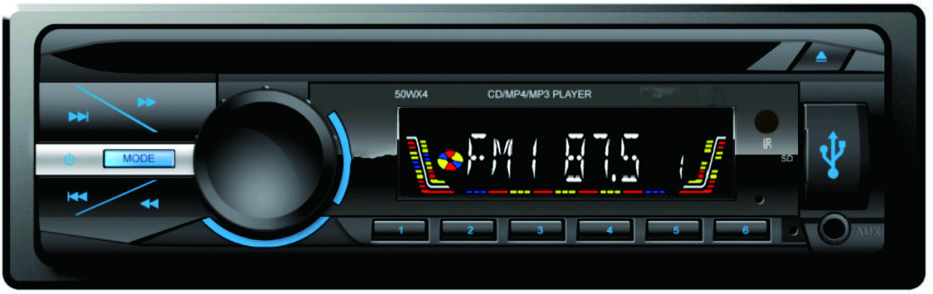 4x45W car CD player MP3 player with bluetooth