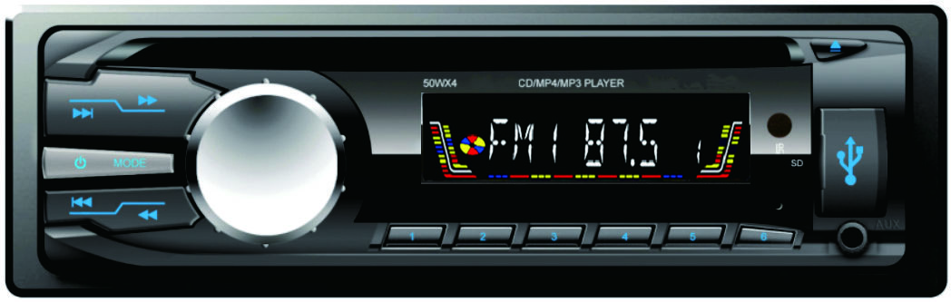 Single din car CD player/audio with color LCD diplay