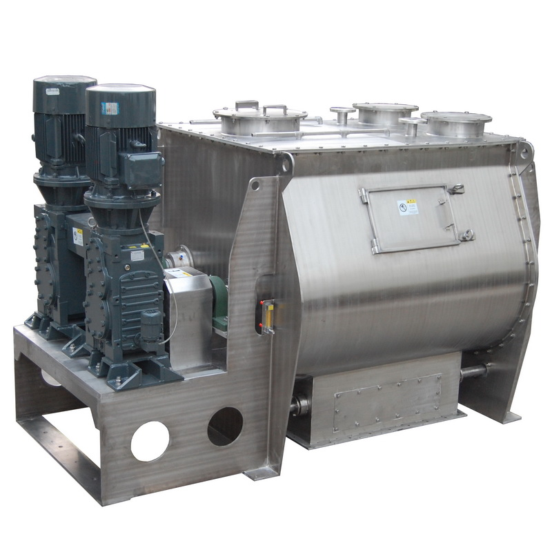 Horizontal Powder double shaft paddle mixer for /cement/sand/dry mortar