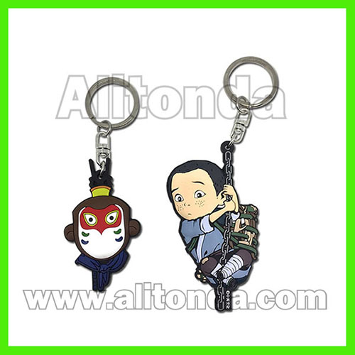 PVC key chains cartoon promotional key chains custom