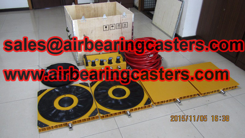 Six air modules air casters pictures