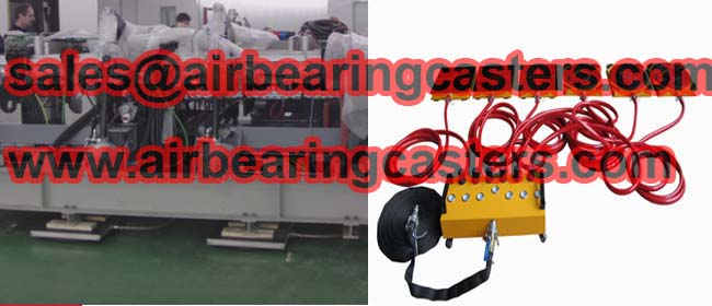 Air caster rigging systems move heavy duty loads