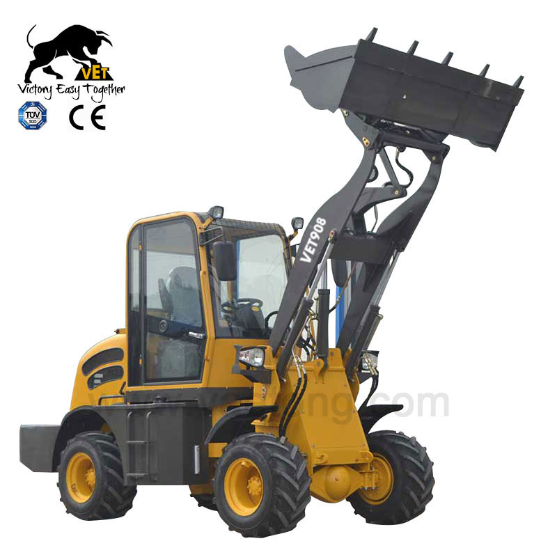 2018 CE Certificated Articulated 0.8 Ton Loader 4WD New Generation