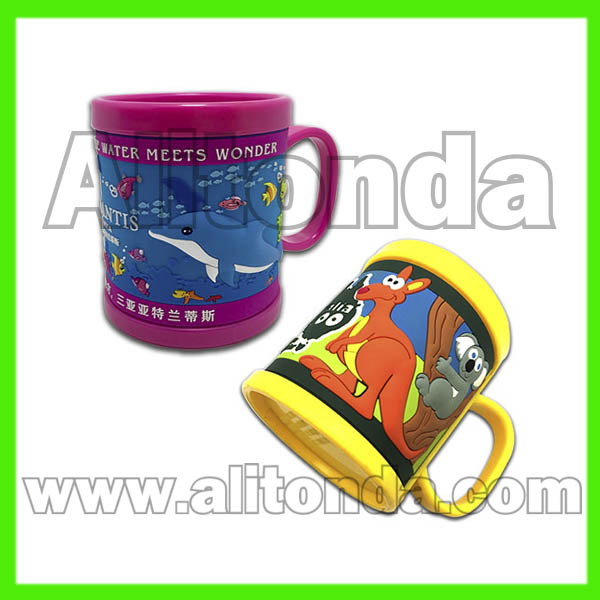 PVC mugs children mug promotional mug custom
