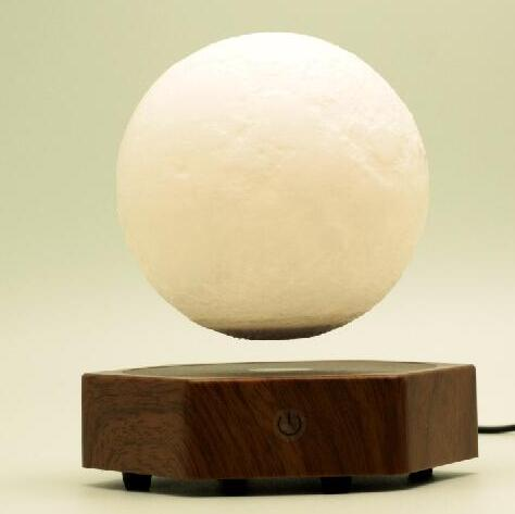 Rotating magnetic floating levitate moon ball