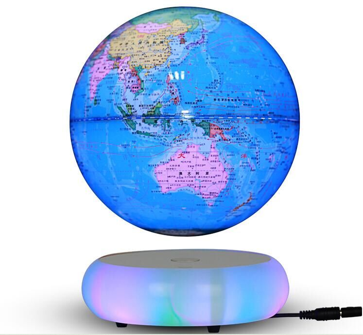 LED light magnetic leviitate floating bottom 7 inch globe lighting