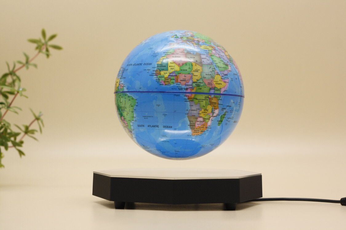 6 side magnetic floating levitate bottom globe 7 inch 8 inch