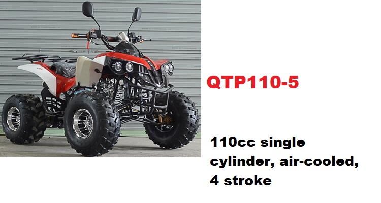 best Quality wholesale QTP110-5ATV 110CC QUAD BIKE, 4 Wheel ,Water Cooled