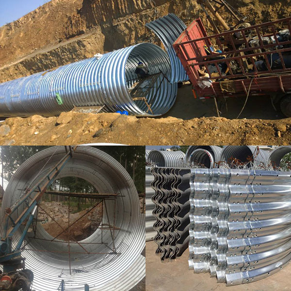 Assembled Galvanized Metal/Steel Corrugated Culvert Pipe